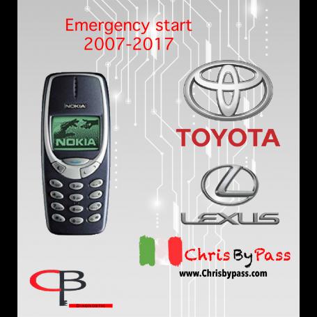 TOYOTA EMERGENCY START 2007-2017