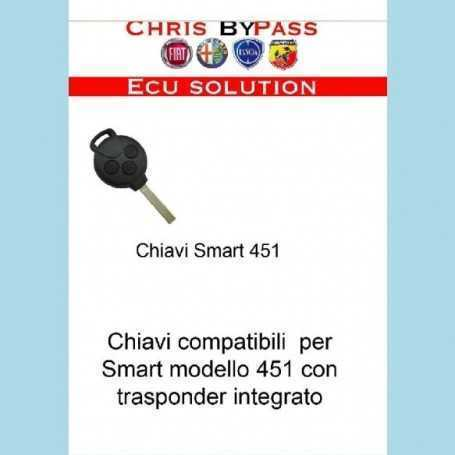Chiavi compatibili Smart 451 transponder integrato
