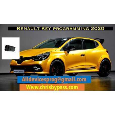 renault device key programming from 2001 to 2019