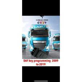 device and software DAF truck from 2009 to 2019